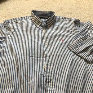 Ralph Lauren casual button down striped shirt